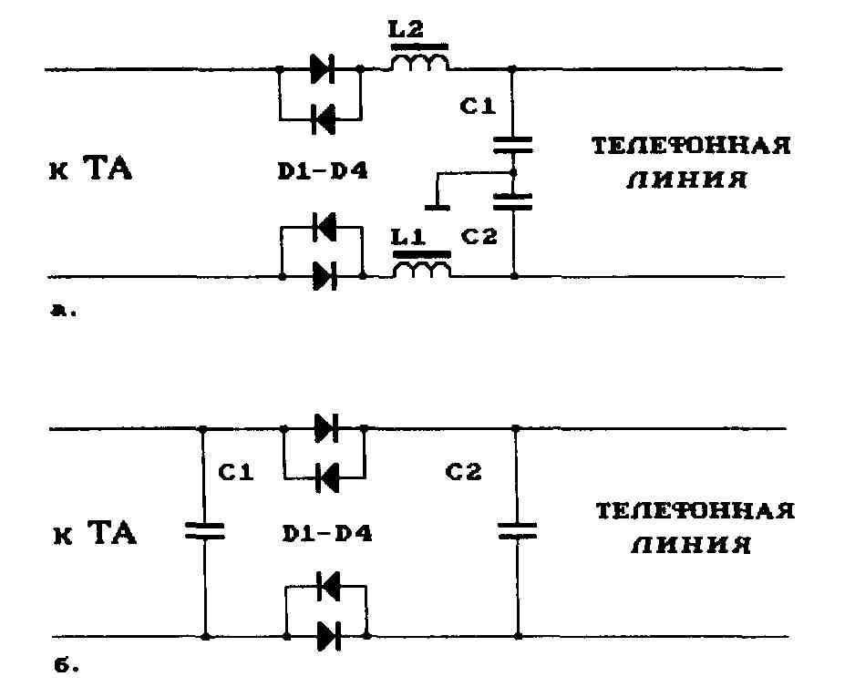 Схемы внешних фильтров